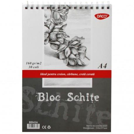 Bloc A4 schite 160g 30 file DACO BD416