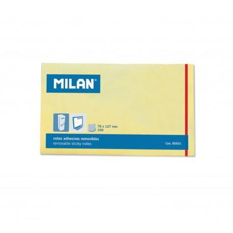 Bloc notes adeziv 125 x 75 Galben pal MILAN
