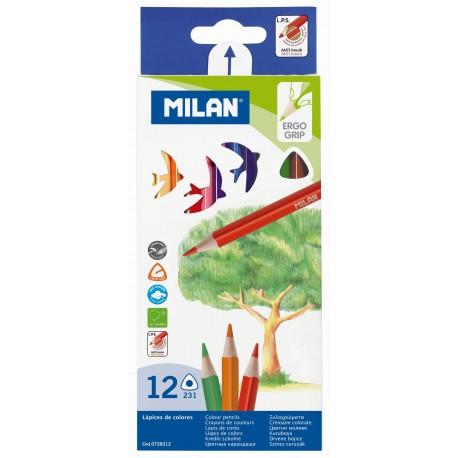 Creion color 12 culori triunghiular MILAN