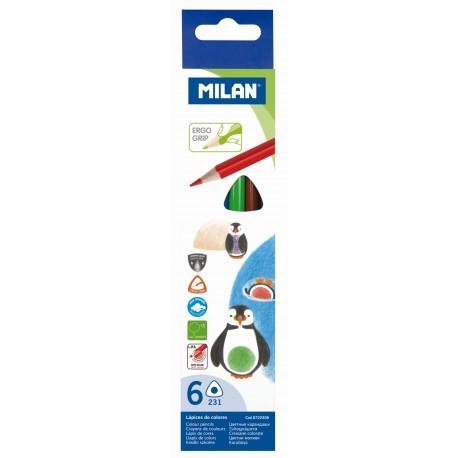 Creion color 6 culori MILAN