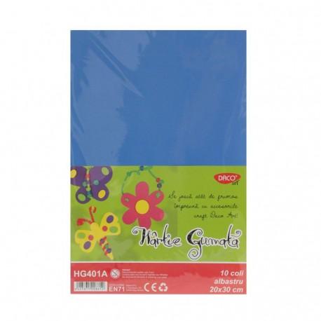 Hartie gumata 10 coli DACO albastru