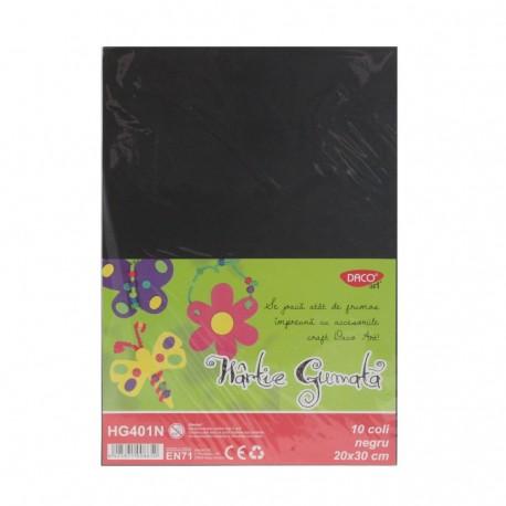 Hartie gumata 10 coli DACO negru