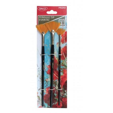 Pensula set 3 tip evantai DACO PN243