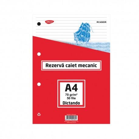 Rezerva caiet mecanic A4 50 file DR DACO