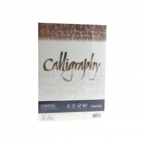 HARTIE CALIGRAFICA 200G/MP A4 50COLI ALB FAVINI CANVAS