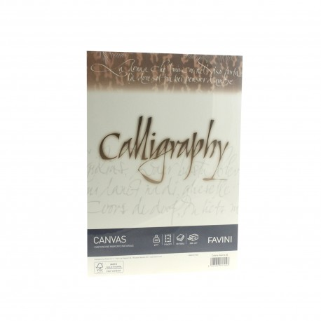 HARTIE CALIGRAFICA 200G/MP A4 50COLI CREM FAVINI CANVAS