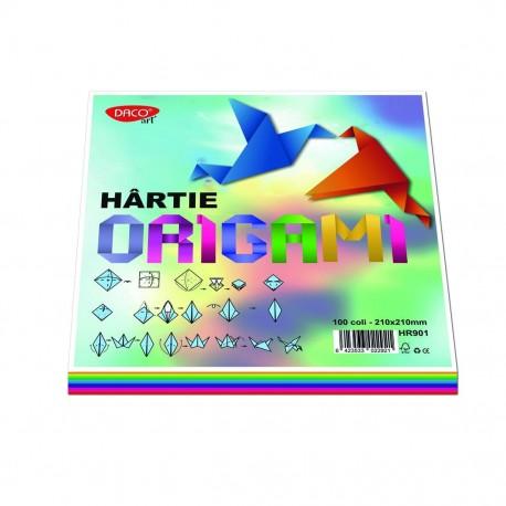 Hartie origami 21x21cm 100/set DACO HR901