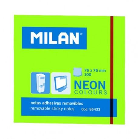 Bloc notes adeziv 76 x 76 Verde neon MILAN