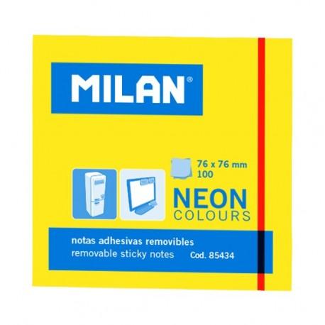 Bloc notes adeziv 76 x 76 Galben neon MILAN