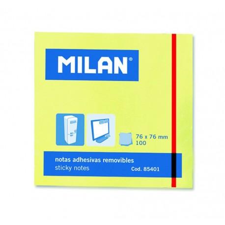 Bloc notes adeziv 76 x 76 galben pal MILAN