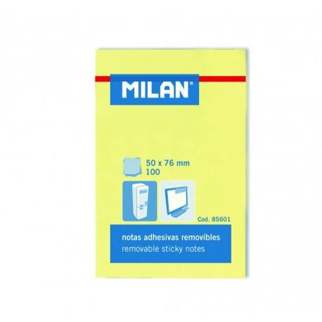 Bloc notes adeziv 50x76 galben pal Milan