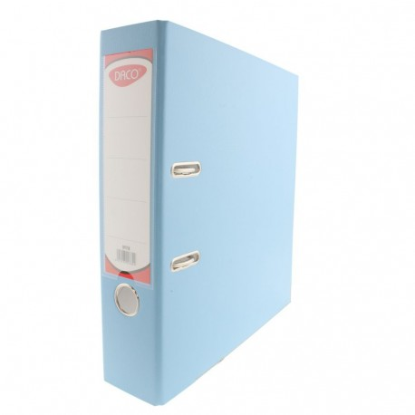 Biblioraft plastifiat 75 mm DACO albastru deschis