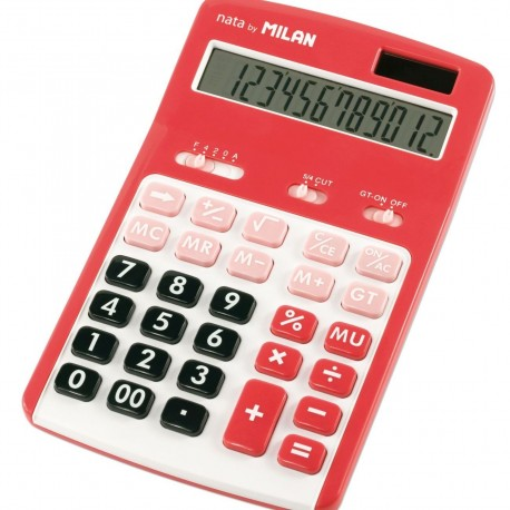 Calculator 12 DG MILAN 150712RBL rosu