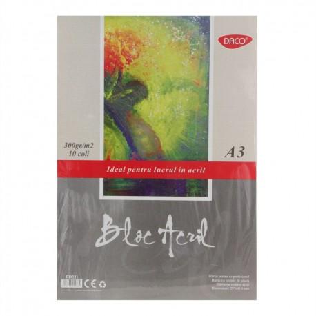 Bloc A3 acril 300g  10 File DACO BD331