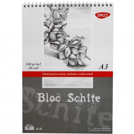 Bloc A3 schite 160g  30 file DACO BD316