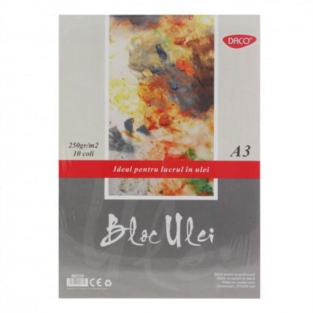 Bloc A3 ulei 250g  10 file DACO BD325
