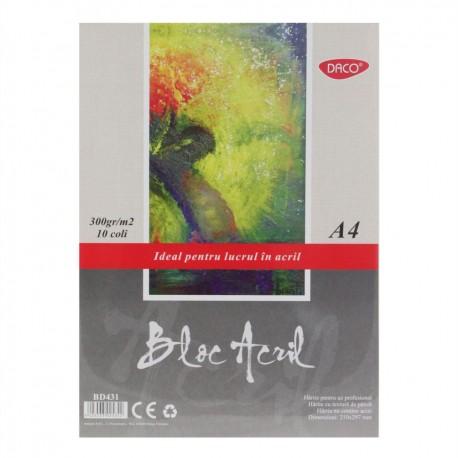 Bloc A4 acril 300g 10 file DACO BD431